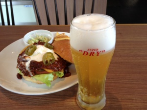 ビールとバーガー